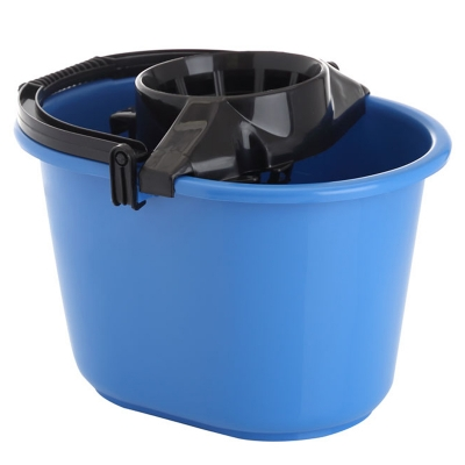 Cubeta Con Exprimidor Azul 12 Lts