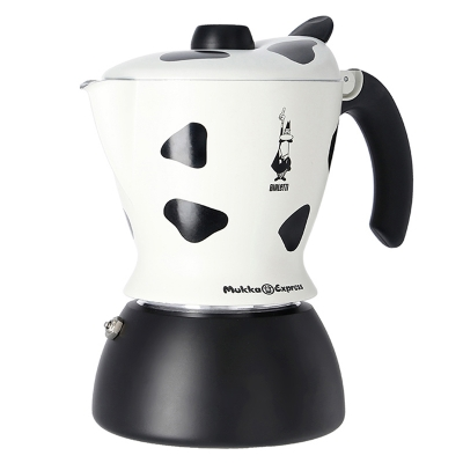 Bialetti Mukka Cafetera Blanco y Negro 2 Tazas