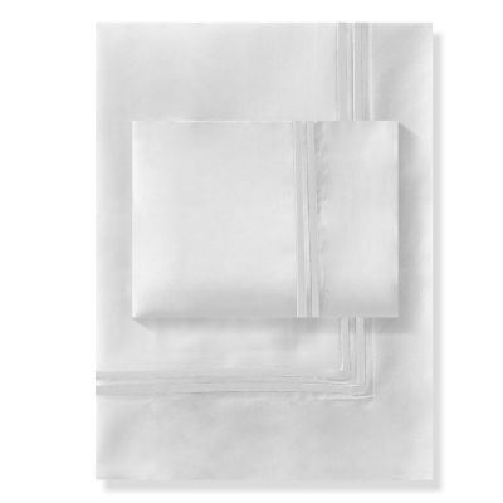 Haus Juego De Duvet 300 Hilos 2 Line Embroidery Classic Full/Queen Blanco