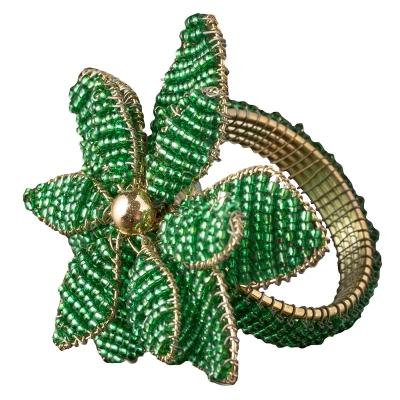 Aro Para Servilletas Poinsettia Verde