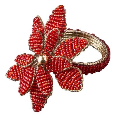 Aro Para Servilletas Poinsettia Roja