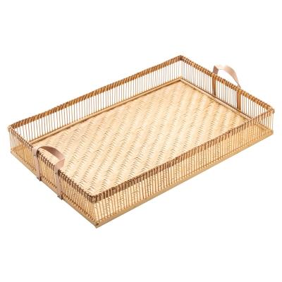 "bandeja de bambú rectangular 23"""