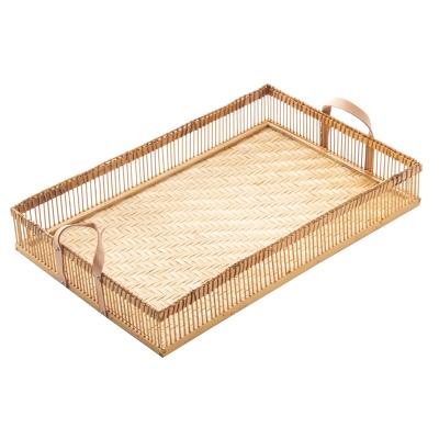 "bandeja de bambú rectangular 21"""