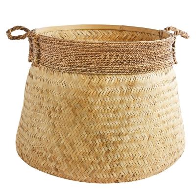 Canasta De Bamboo Grande Natural