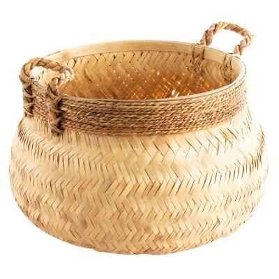 Canasta De Bamboo Mediana Natural
