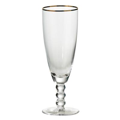 """Copa De Champagne Gold Rim 8"""""""