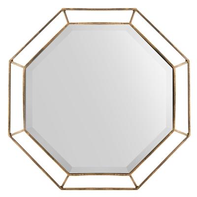 """Espejo Antique Octagonal Dorado 22"""""""