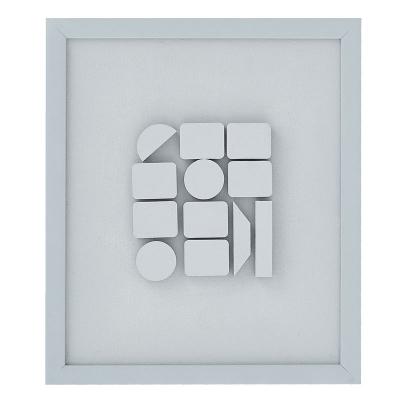 """Cuadro Abstracto Gris 12"""" x 13"""""""