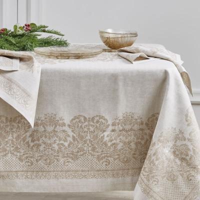 "Mantel Ornamental Rectangular Blanco Perla 70"" x 107"""
