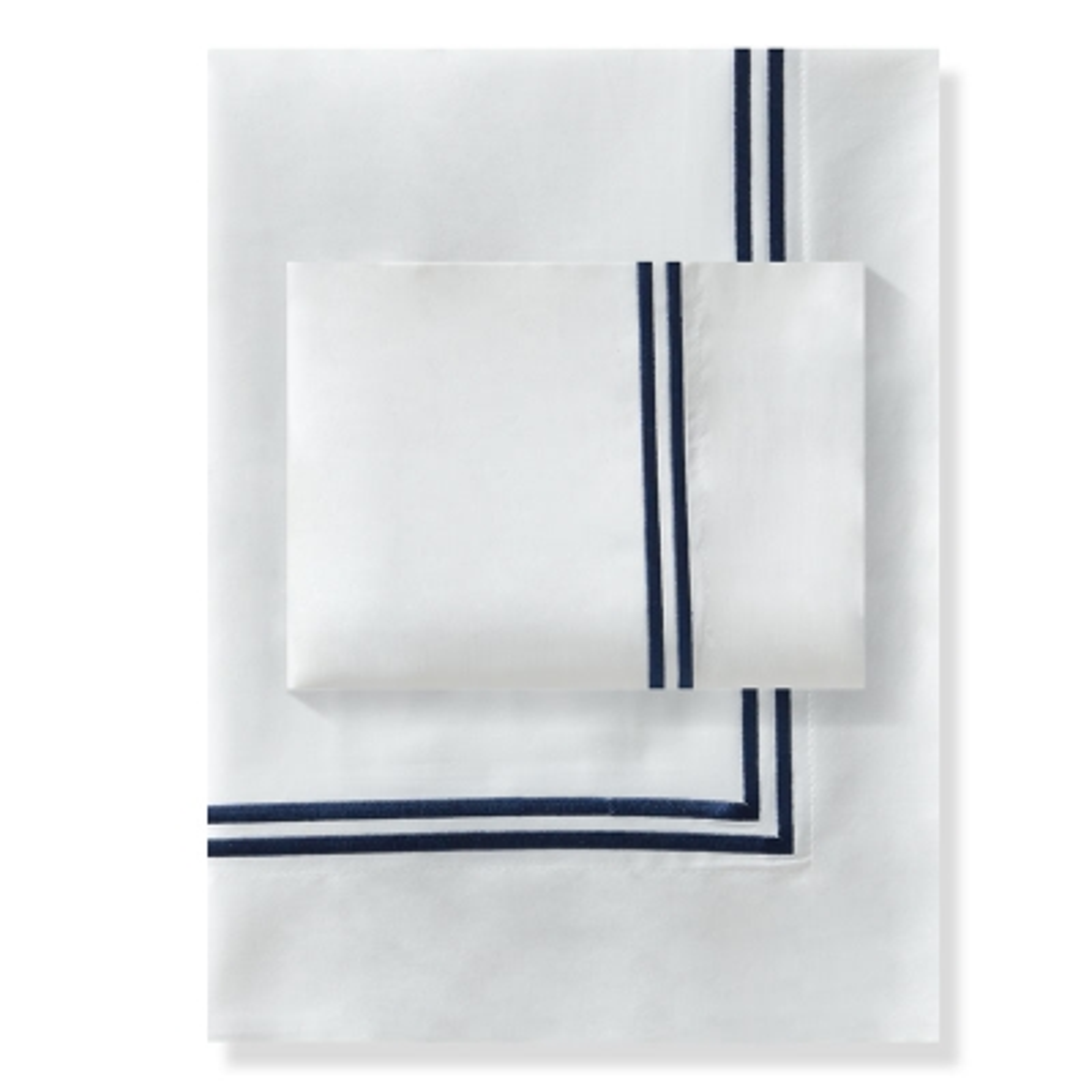 Haus Juego De Duvet 300 2 Line Embroidery Hilos King XL Azul Imperial