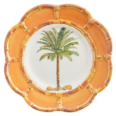 Plato De Postre Bamboo Palma Naranja