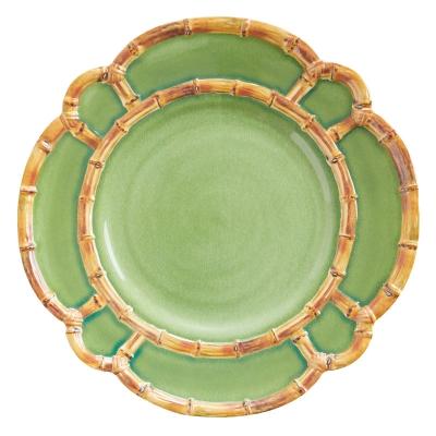 Plato Llano Bamboo Verde